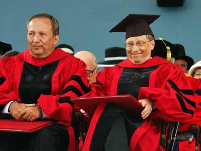 Bill Gates At Harvard Commencement On June 2007